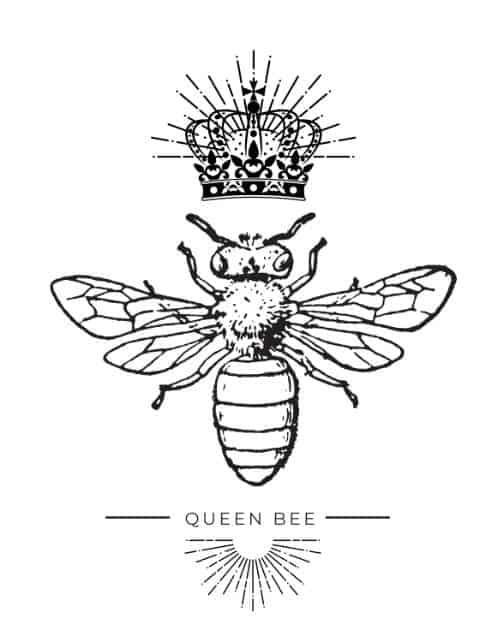 Queen Bee Coffee Mug Design