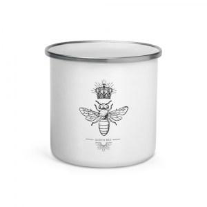 Queen Bee Enamel Mug