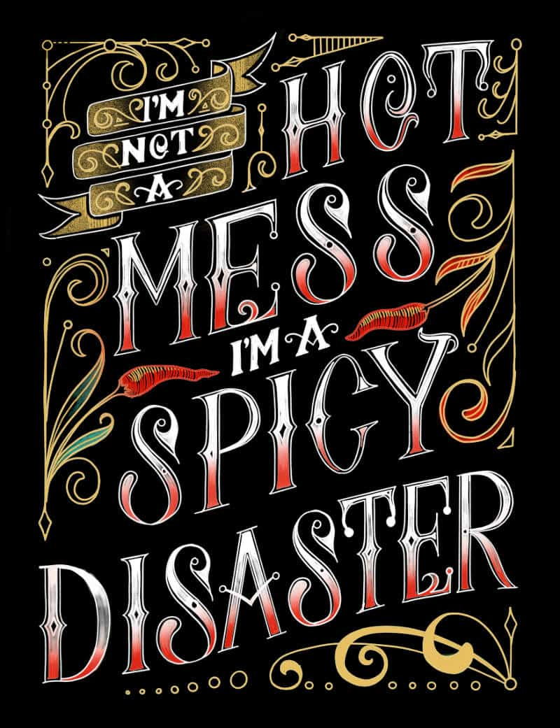 Im not a hot mess Im a spicy disaster gift t-shirt for women